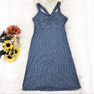 PrAna medium blue tank top dress with stretch
